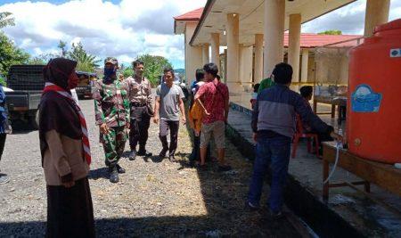 Pramuka RACANA IAIN Curup Jadi Relawan Garda Terdepan Penanganan Covid'19 Di Perbatasan Curup-Kepahiang